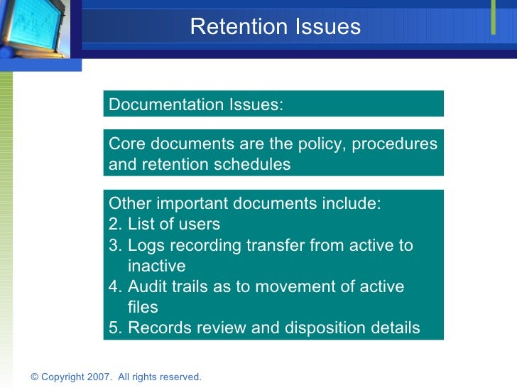 Designing A Compliant Record Retention Policy