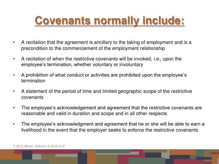 Restrictive Covenants In Employment Agreements: Do They Really Work?