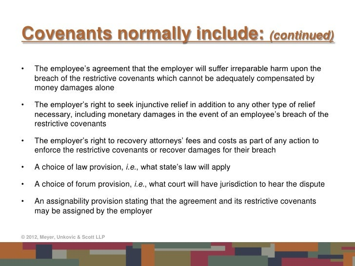 Restrictive Covenants in Employment Agreements: Do They ...