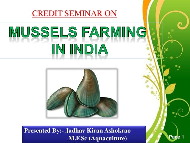 Mussels farming in india click here to download this powerpoint template green floral free powerpoint template for more toneelgroepblik Gallery