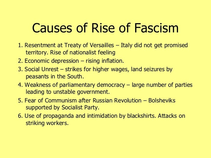 the rise of fascism The rise of hitler and destruction of the german left though expelled from the ussr, trotsky and the left opposition still considered themselves a.