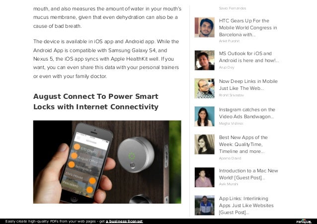 Must-know Internet Of Things : Mint, August Connect, Wifi