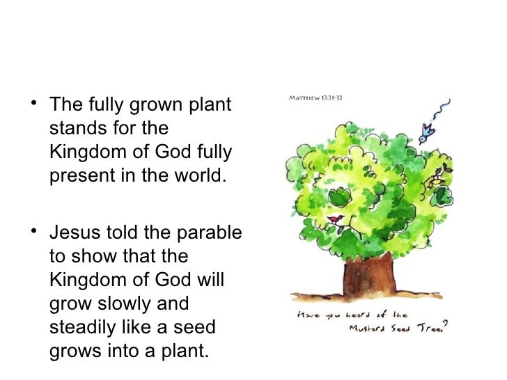 An interpretation of the parable of the mustard seed