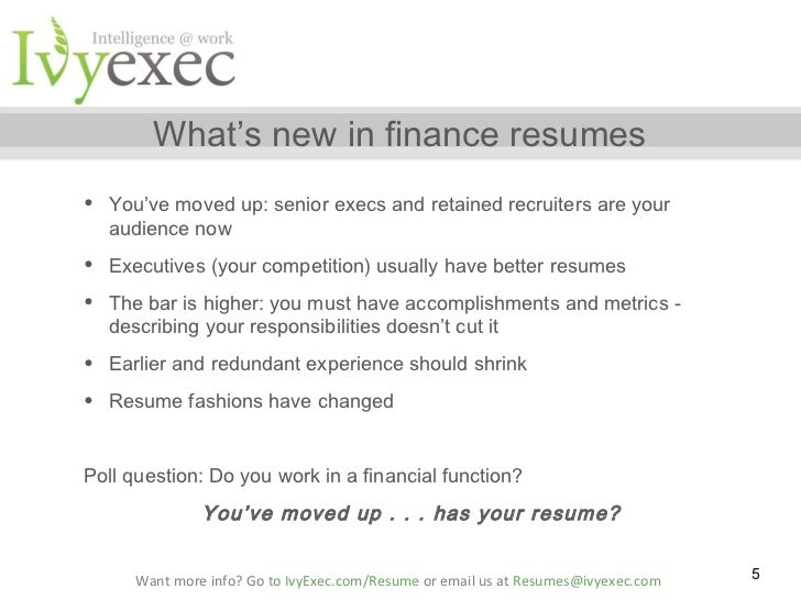 the must avoid mistakes in financial services resumes