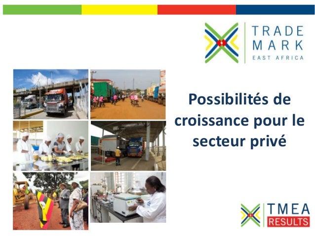 Possibilités de croissance pour le secteur privé