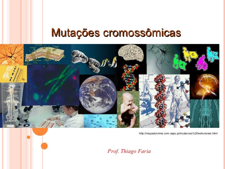 Mutações cromossômicas http://mapadocrime.com.sapo.pt/mutacoes%20estruturais.html Prof. Thiago Faria