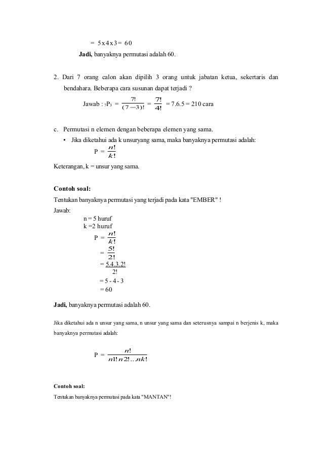 Matematika Mutasi Dan Kombinasi