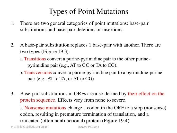 how to write point mutation