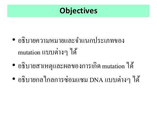 Mutation and DNA repair Slide 2