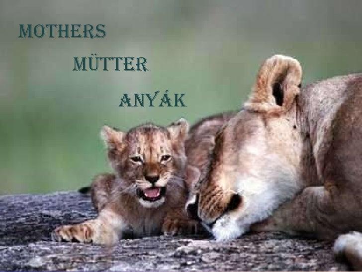 Mothers MÜtter Anyák