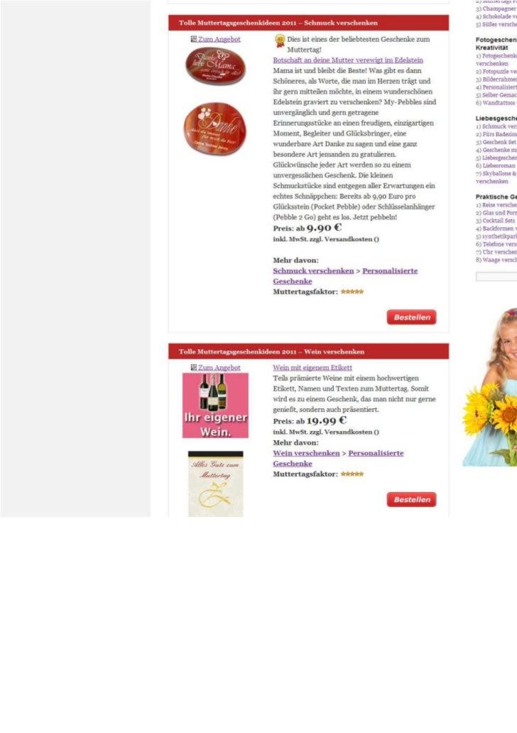 Zum Muttertag 2011 - die besten Muttertagsgeschenkideen