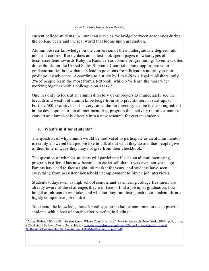 mentor paper