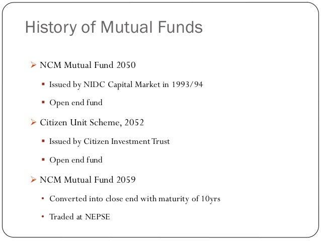 Ncm mutual fund