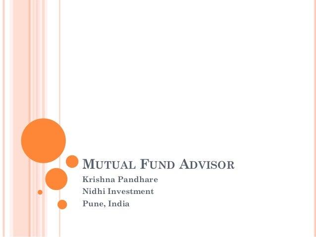 MUTUAL FUND ADVISOR Krishna Pandhare Nidhi Investment Pune, India