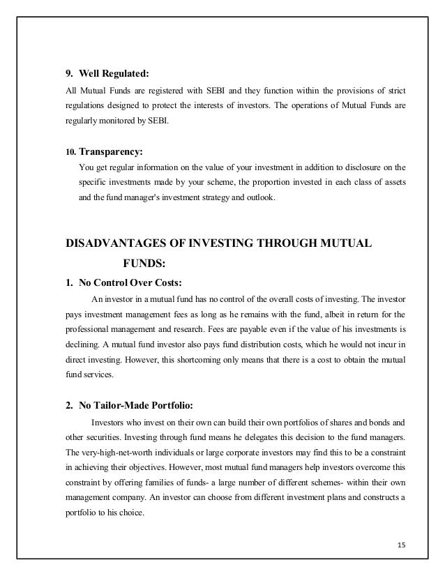 project report on sebi essay Project report on stock exchange  sebi's primary functions include protecting investor interests  college essay - shankarjadhav28 1.