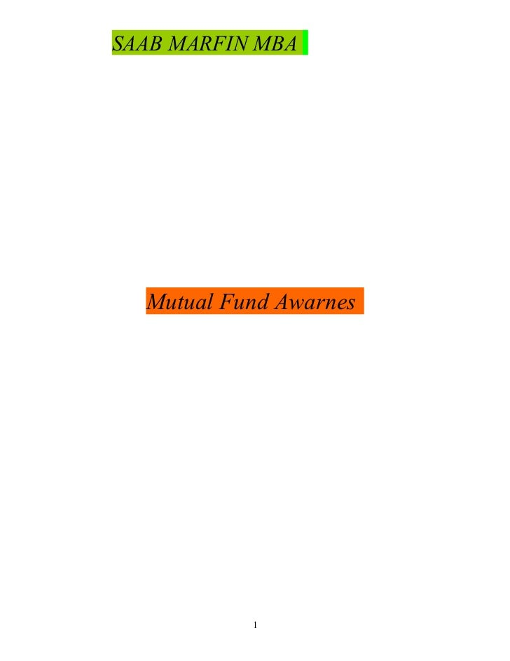 Mutual fund awarness
