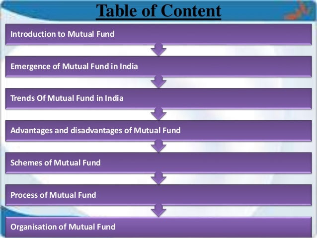 Mutual fund & indian trends in mutual funds