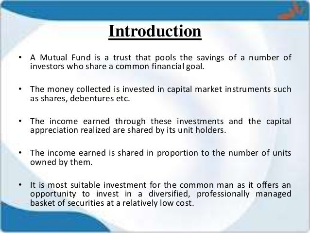 thesis on mutual fund in india Building the mutual fund market in india: however mutual fund consumers in the metro areas are leading the slow and steady growth of mutual funds in india.
