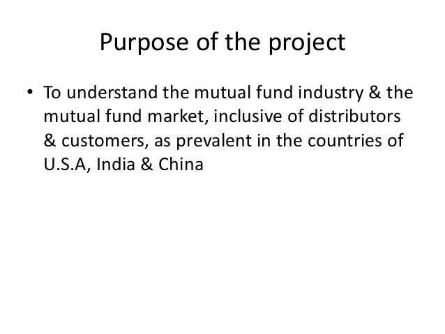 Introduction to the mutual fund industry