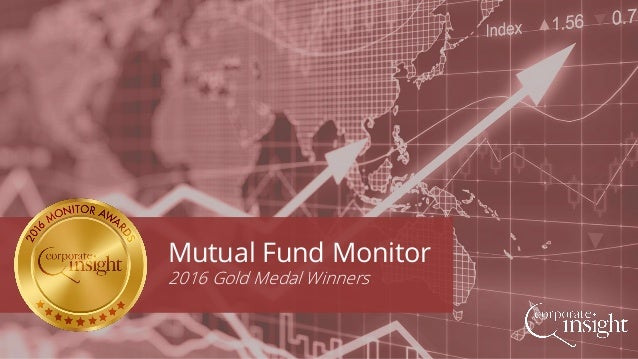 Mutual Fund Monitor 2016 Gold Medal Winners