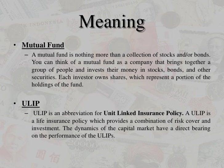 Mutual fund or ULIP