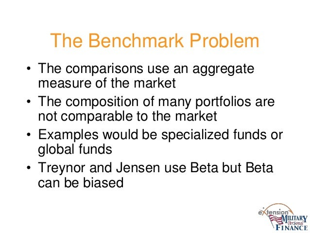 advantages and limitations of jensen treynor and sharpe measures In the same way that the sharpe ratio measures excess return forget treynor and jensen of idiosyncratic risk and the limitations of beta affect the.