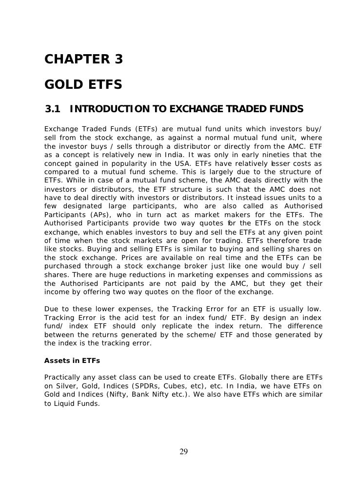 Exchange traded products pdf
