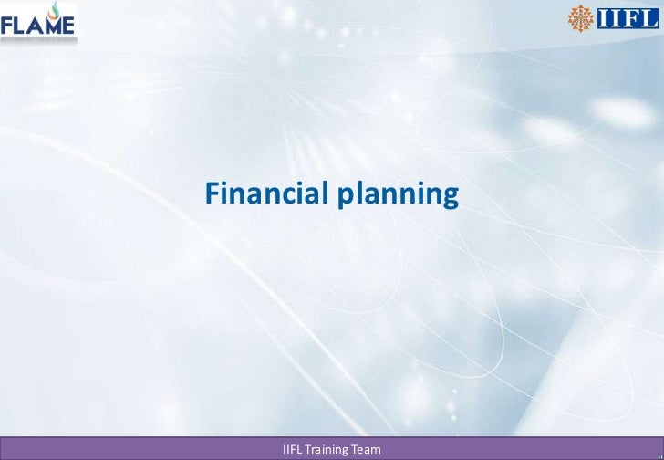Financial planning<br />