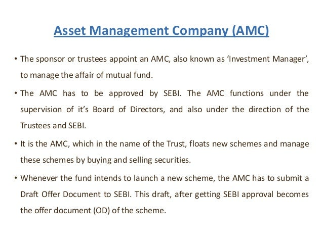 asset management company functions Mutual funds_Financial Services