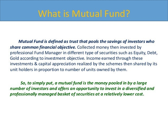 Problem identification in mutual funds