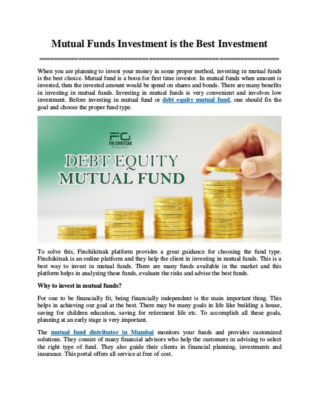 Mutual Funds Investment is the Best Investment