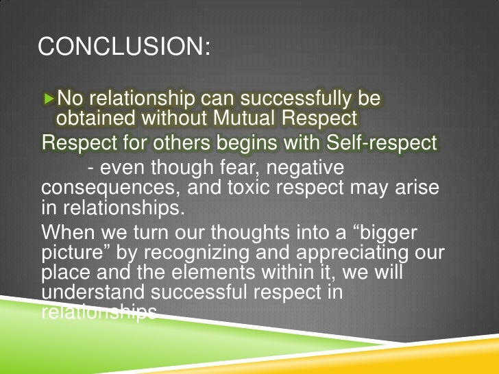Meaning of respect in a relationship