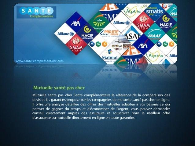 Mutuelle santé pas cher Sante complémentaire la référence de la comparaison des devis et les garanties propose par les com...