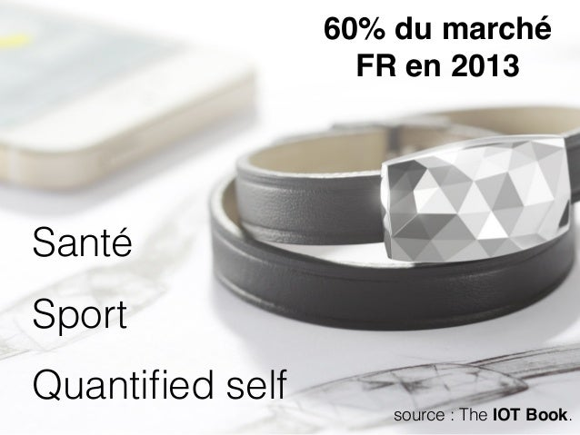 Santé Sport Quantified self 60% du marché  FR en 2013 source : The IOT Book.