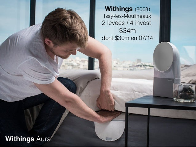 Withings Aura Withings (2008) Issy-les-Moulineaux 2 levées / 4 invest. $34m dont $30m en 07/14