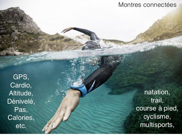 GPS, Cardio, Altitude, Dénivelé, Pas, Calories, etc. natation, trail, course à pied, cyclisme, multisports, Montres conne...
