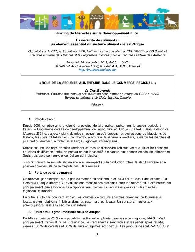 buy online 2ac1f 2dea4 1 Briefing de Bruxelles sur le développement n° 52 La sécurité des aliments    un ...
