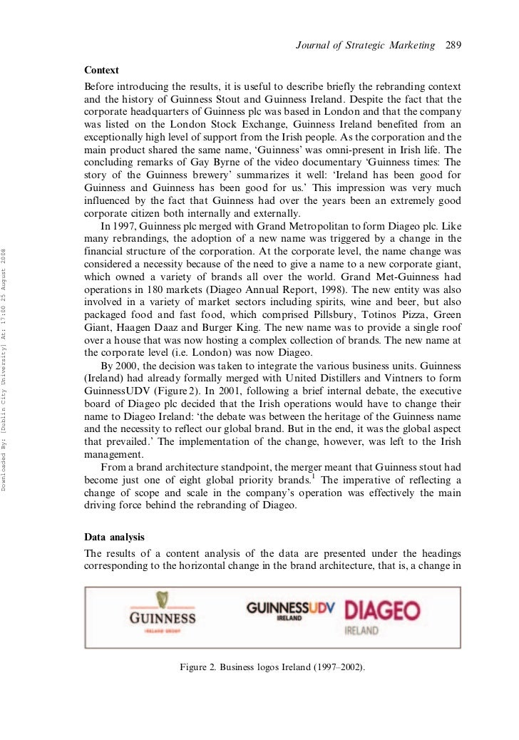 Diageo case report