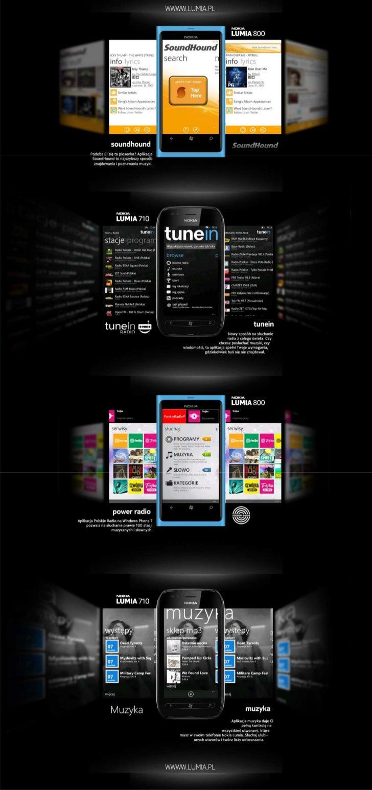 Aplikacje muzyczne na Nokia Lumia: SoundHound, tunein, Polskie Radio, Nokia Muzyka