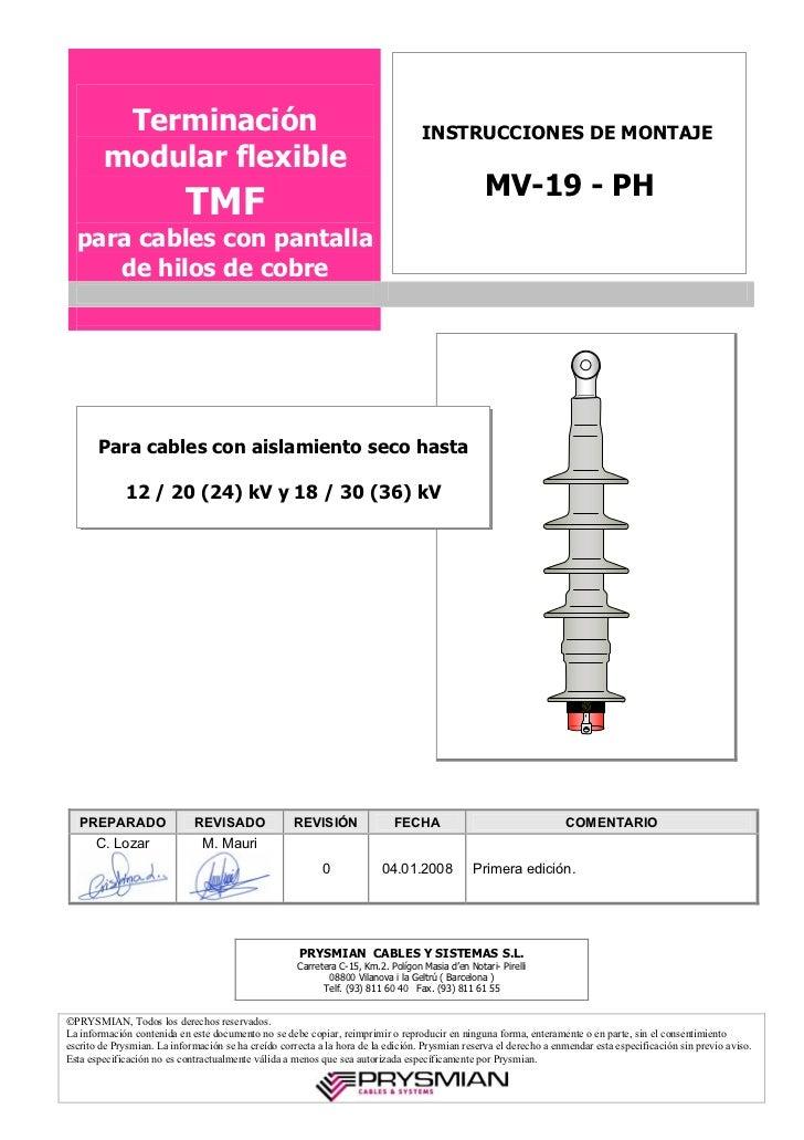 Terminación                                                               INSTRUCCIONES DE MONTAJE        modular flexible...