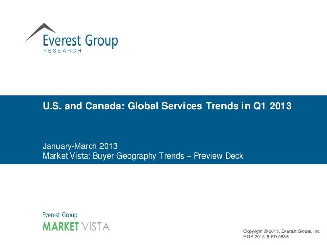 January-March 2013 Market Vista: Buyer Geography Trends – Preview Deck U.S. and Canada: Global Services Trends in Q1 2013 ...