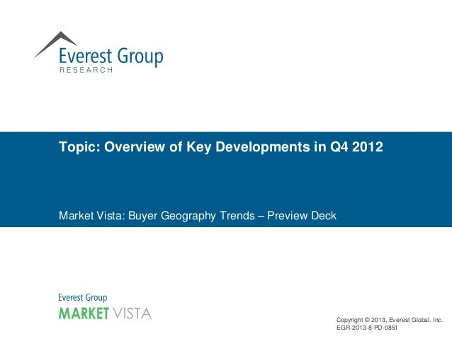 Topic: Overview of Key Developments in Q4 2012Market Vista: Buyer Geography Trends – Preview Deck                         ...