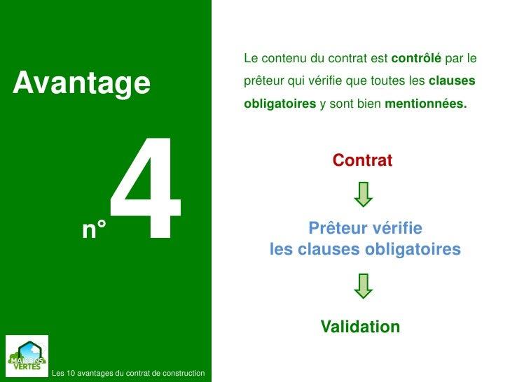 Les 10 avantages du contrat de construction de maisons for Contrat construction