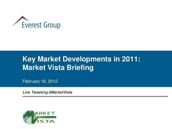 Key Market Developments in 2011:Market Vista BriefingFebruary 16, 2012Live Tweeting #MarketVista