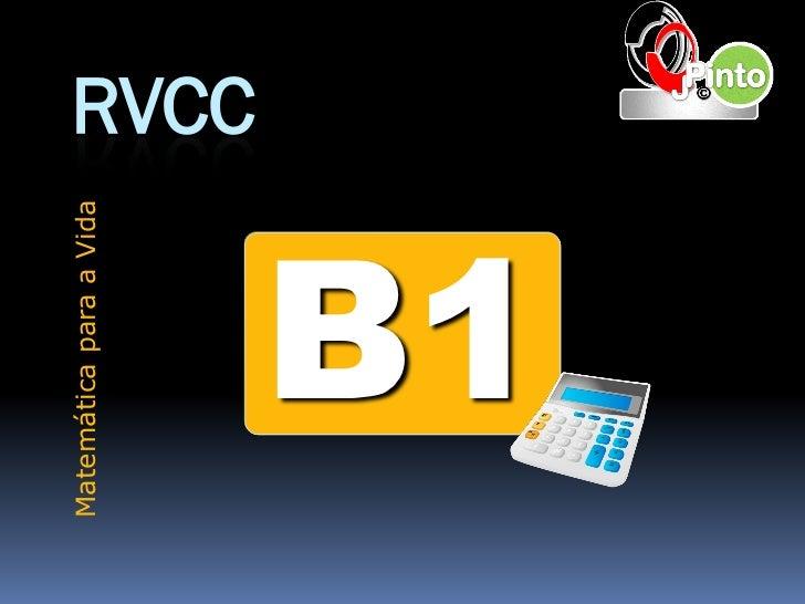 Matemática para a Vida                         RVCC     B1