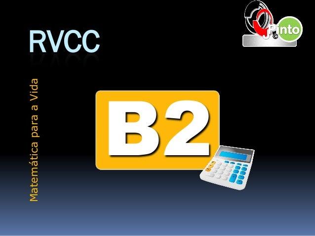 RVCC B2 MatemáticaparaaVida