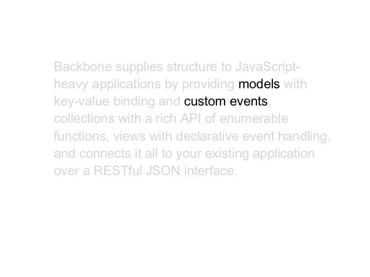 App.Collections.Comments = Backbone.Collection.extend({–   model–   constructor / initialize         model: Comment,–   mo...