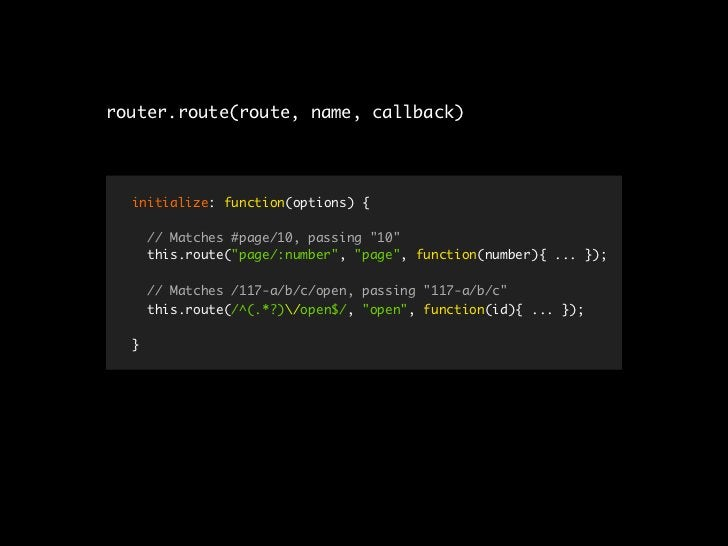 var App = {         Views: {},         Router: {},         Collections: {},         Cache: new CacheProvider(),         in...