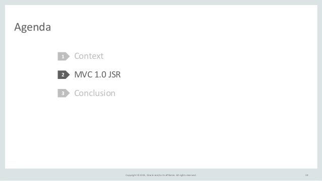 Copyright  ©  2015,  Oracle  and/or  its  affiliates.  All  rights  reserved. Agenda Context   MVC  ...