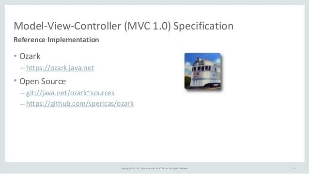 Copyright  ©  2015,  Oracle  and/or  its  affiliates.  All  rights  reserved. Model-‐View-‐Controller...